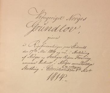 Novembergrunnloven 200år!